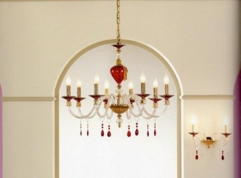 lampadari con tige, lampadari in vetro, lampadari cristallo