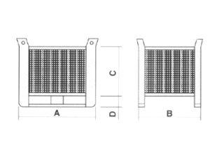 cassoni in rete disegno tecnico
