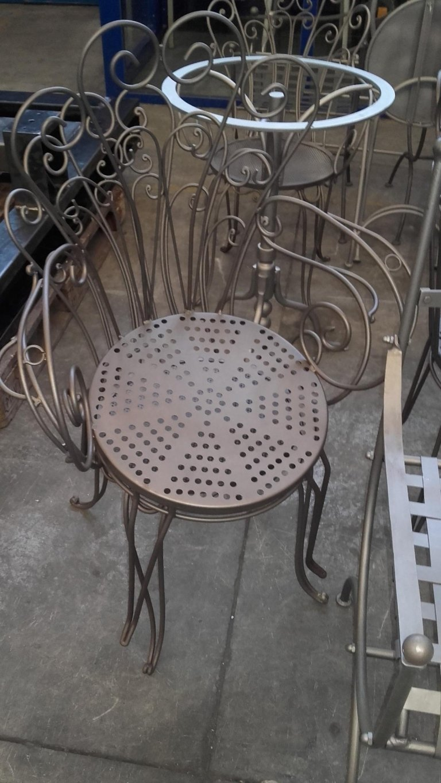 sedie in acciaio