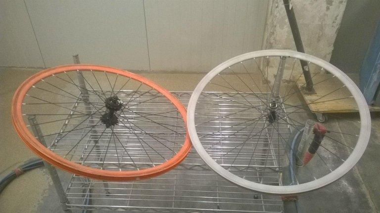 due ruote di una bicicletta