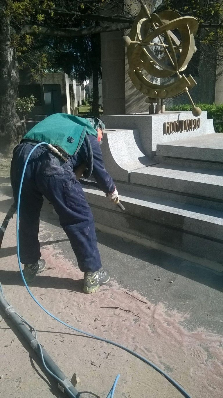 processo di idrosabbiatura