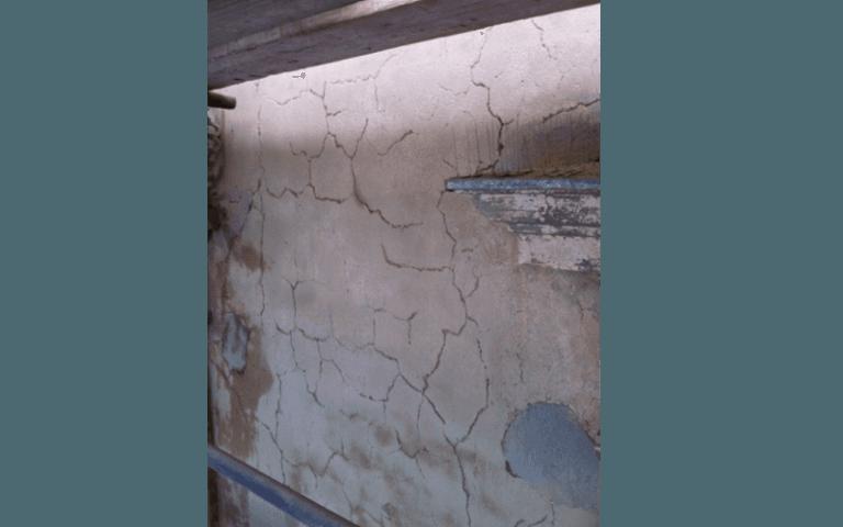 muro con crepe
