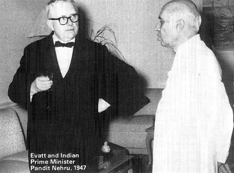 Evatt and Indian PM Pandit Nehru, 1947