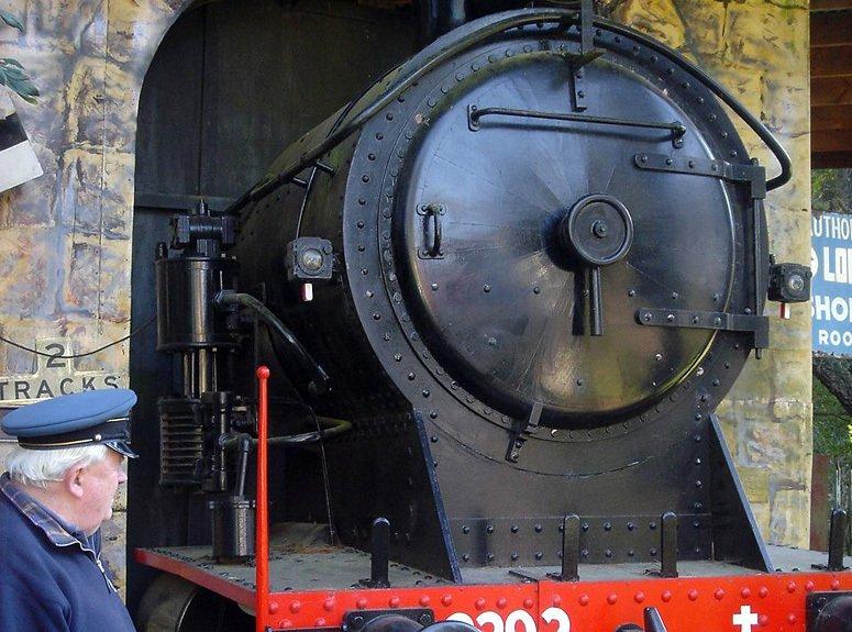 Railway engine on display