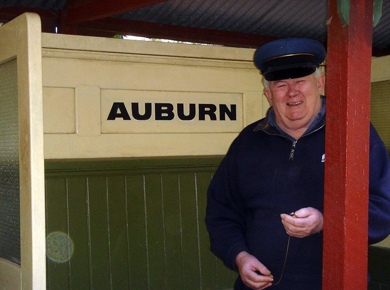 Railway museum  employee at the auburn