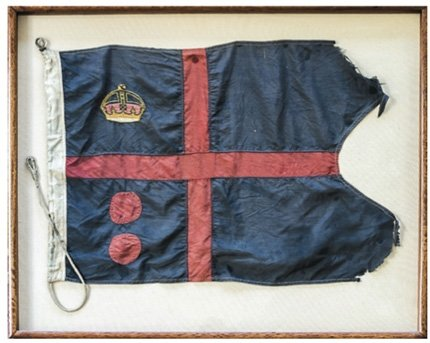 The nautical flags presented to Andreas by Edward