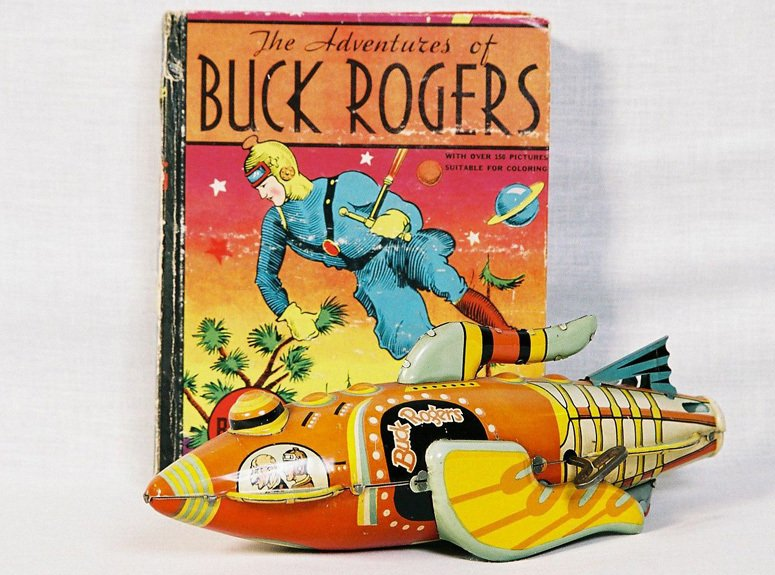 Buck rogers book with toy
