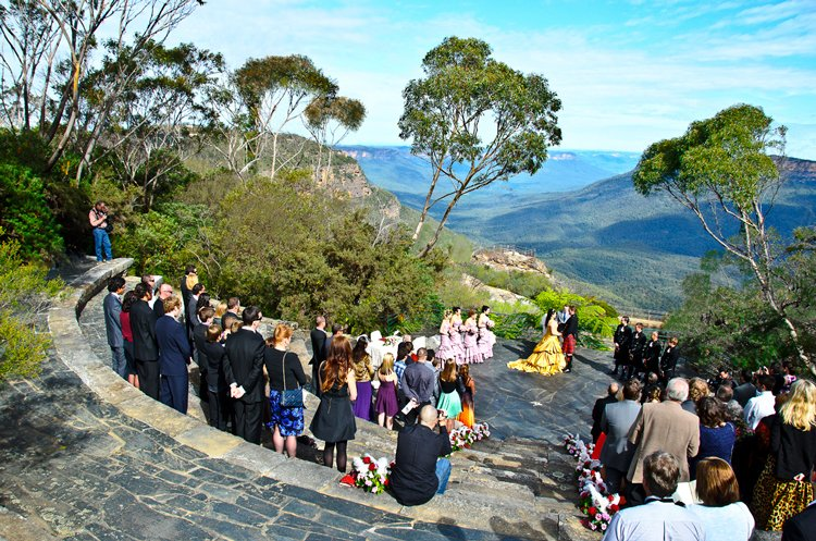 Wedding taking place at the blue mountains