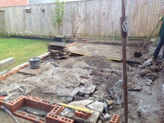 Before landscaping work