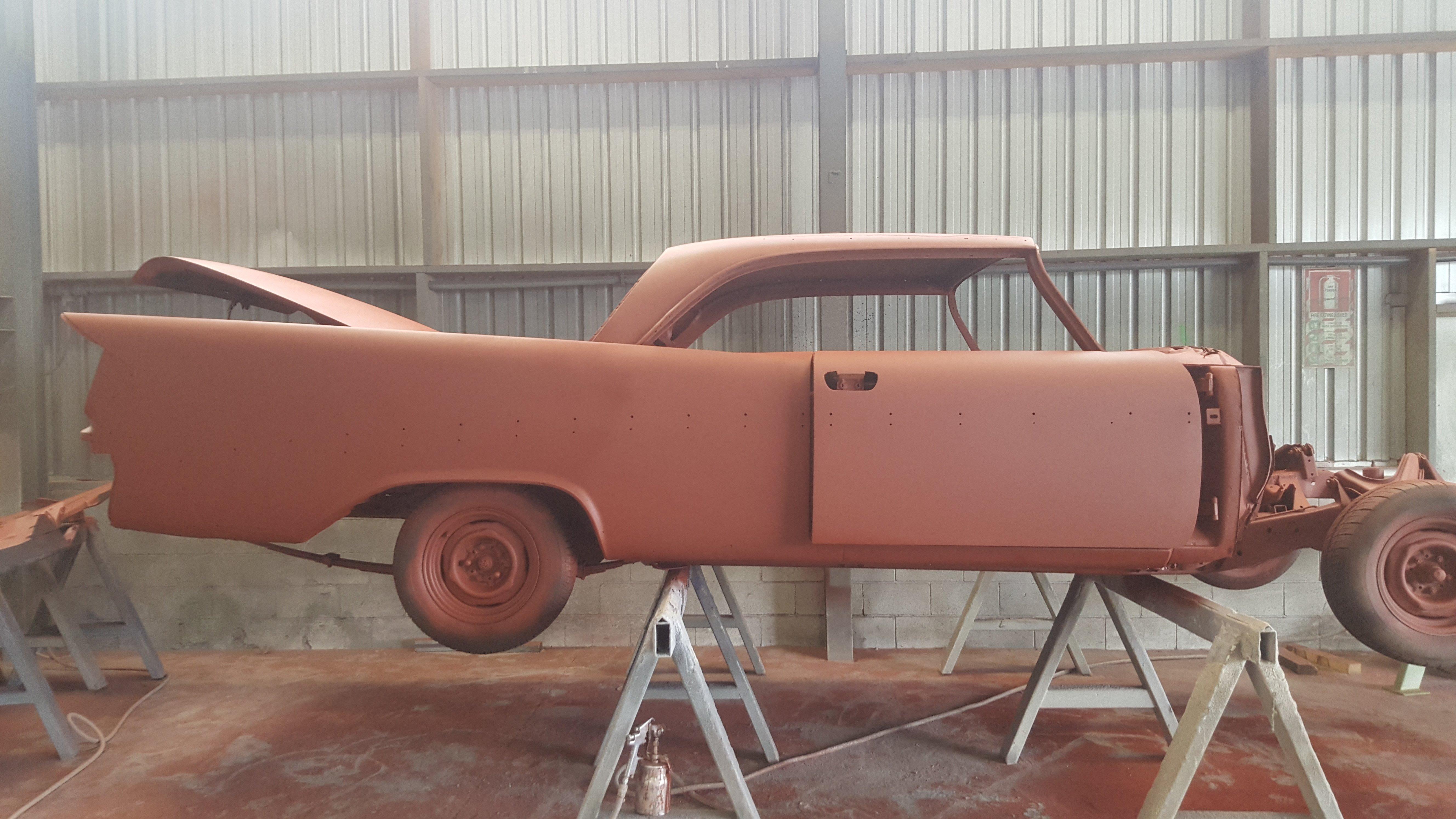 Car restoration services at workshop