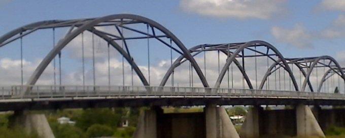 Bridge after sandblasting