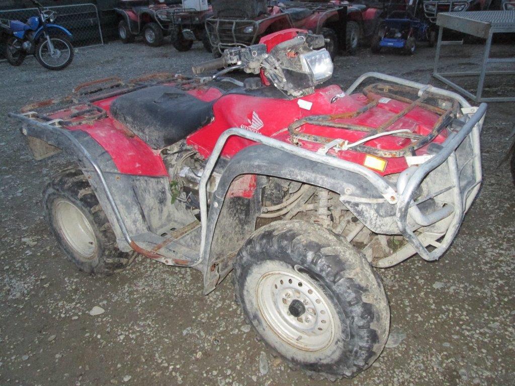 Honda TRX500FM 2005 wreck