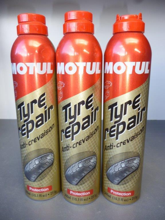 Tyre repair anti crevaison spray
