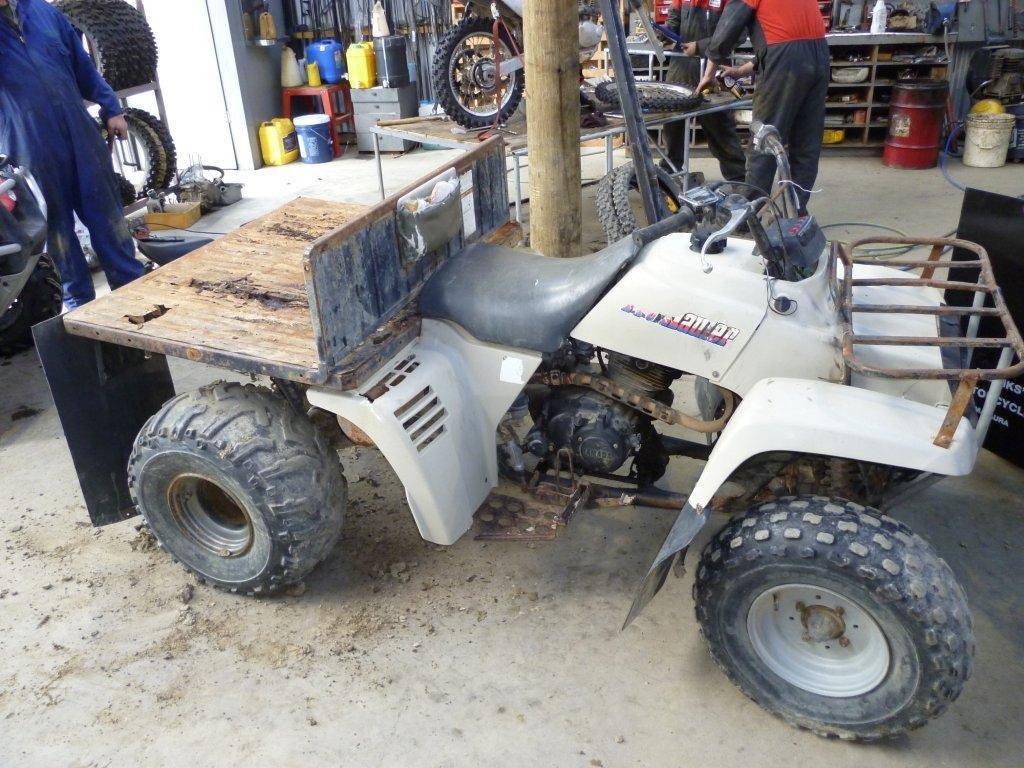 Yamaha Pro hauler YFM225 wreck