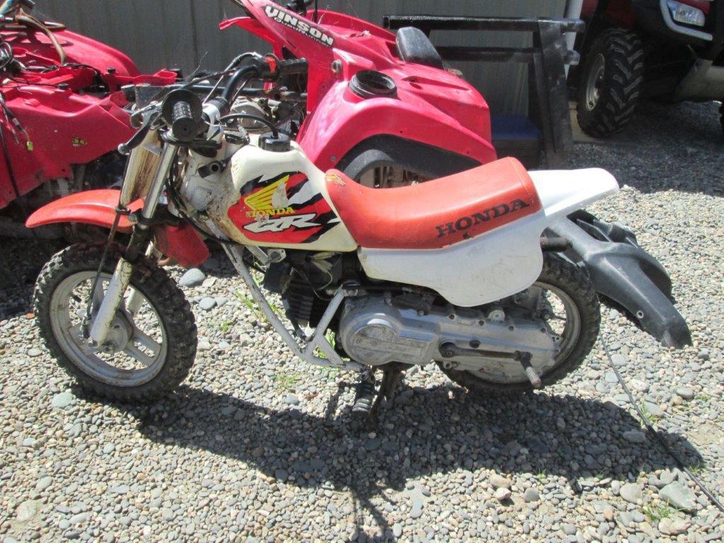 Honda QR50 wreck