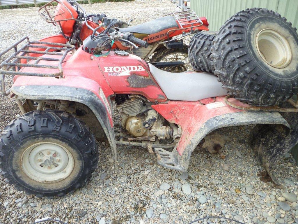 Honda TRX300 wreck