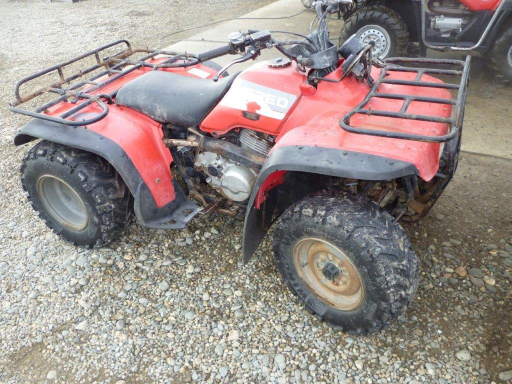 Honda TRX wreck