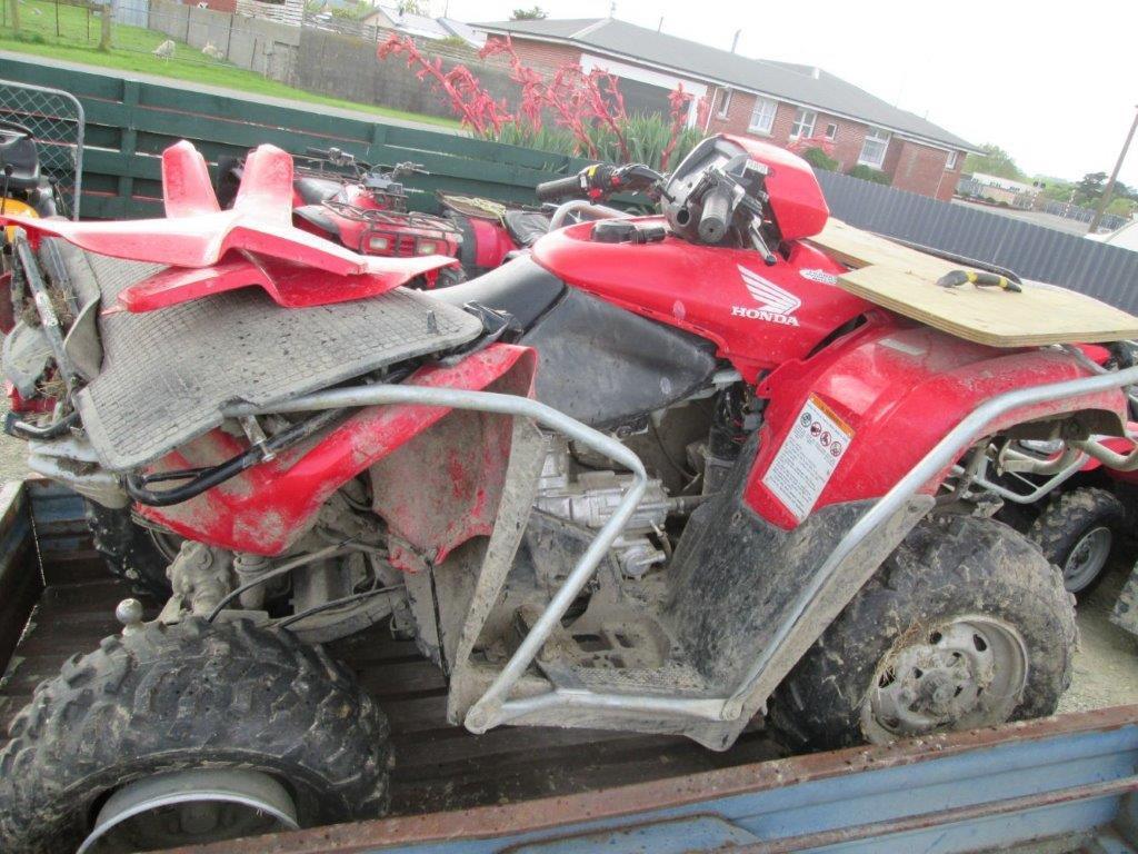 Honda TRX500 FPA 2013 wreck
