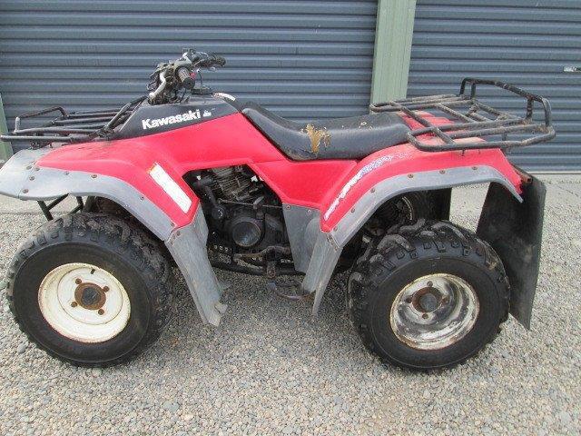 Kawasaki KLF300B wreck