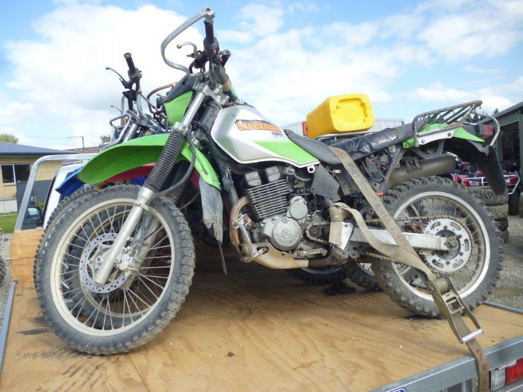 Kawasaki KL250 Stockman wreck