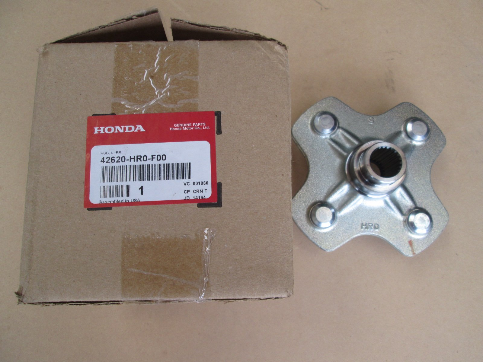 Genuine Honda 2012/13L/H Rear Axle Hub42620-HR0-F00