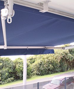 elegant blinds and awnings blue coloured awnings
