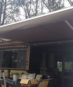 elegant blinds and awnings at restaurants
