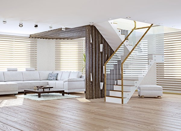 elegant blinds and awnings blinds at living room