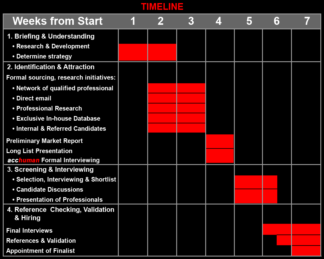executive search timeline
