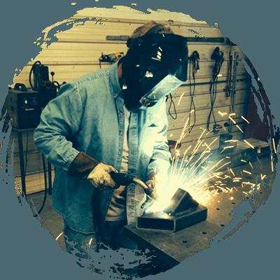 Worker Welding Metal Art, Columbia SC
