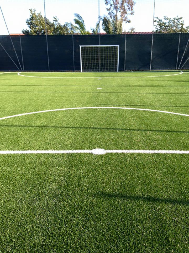 Campo da calcio all'aperto