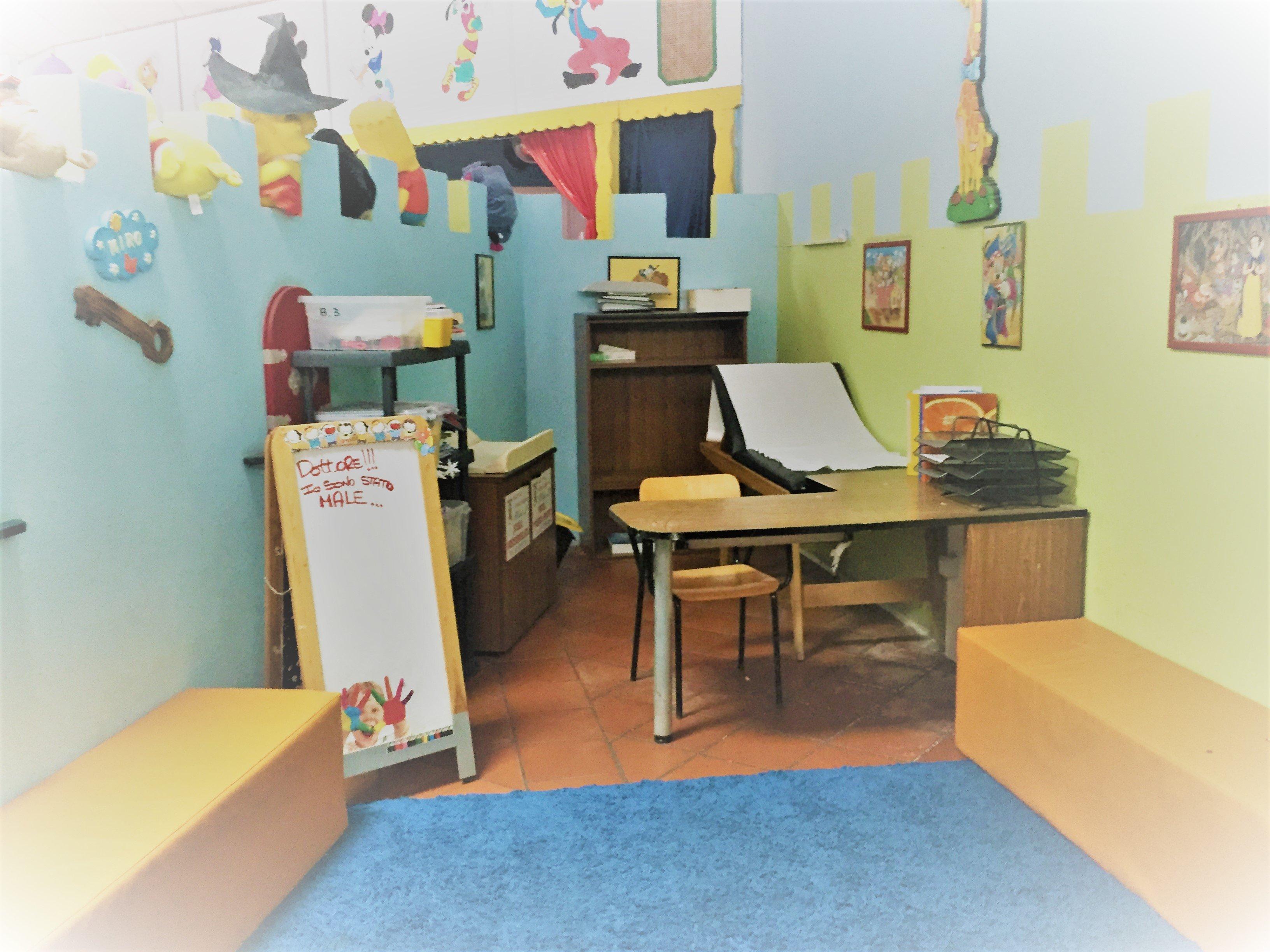 Un'aula dell'asilo Mirò ad Aprilia