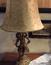 Cherub lamp & shade