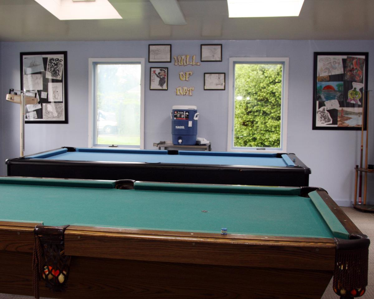recreation room in Seafield rehab facility - Long Island & New York City NY