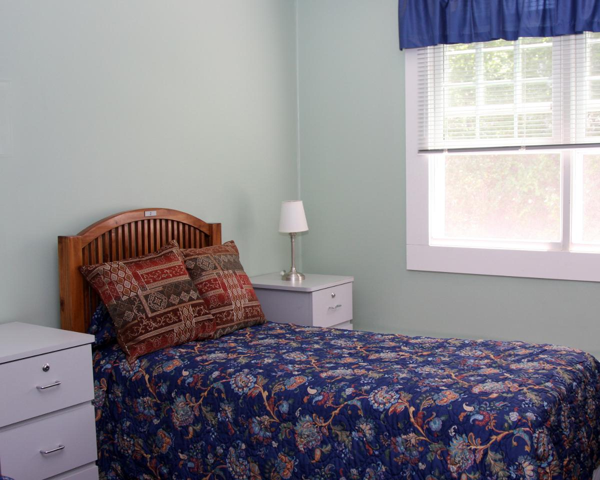 bedroom in Seafield rehab facility - Long Island & New York City NY