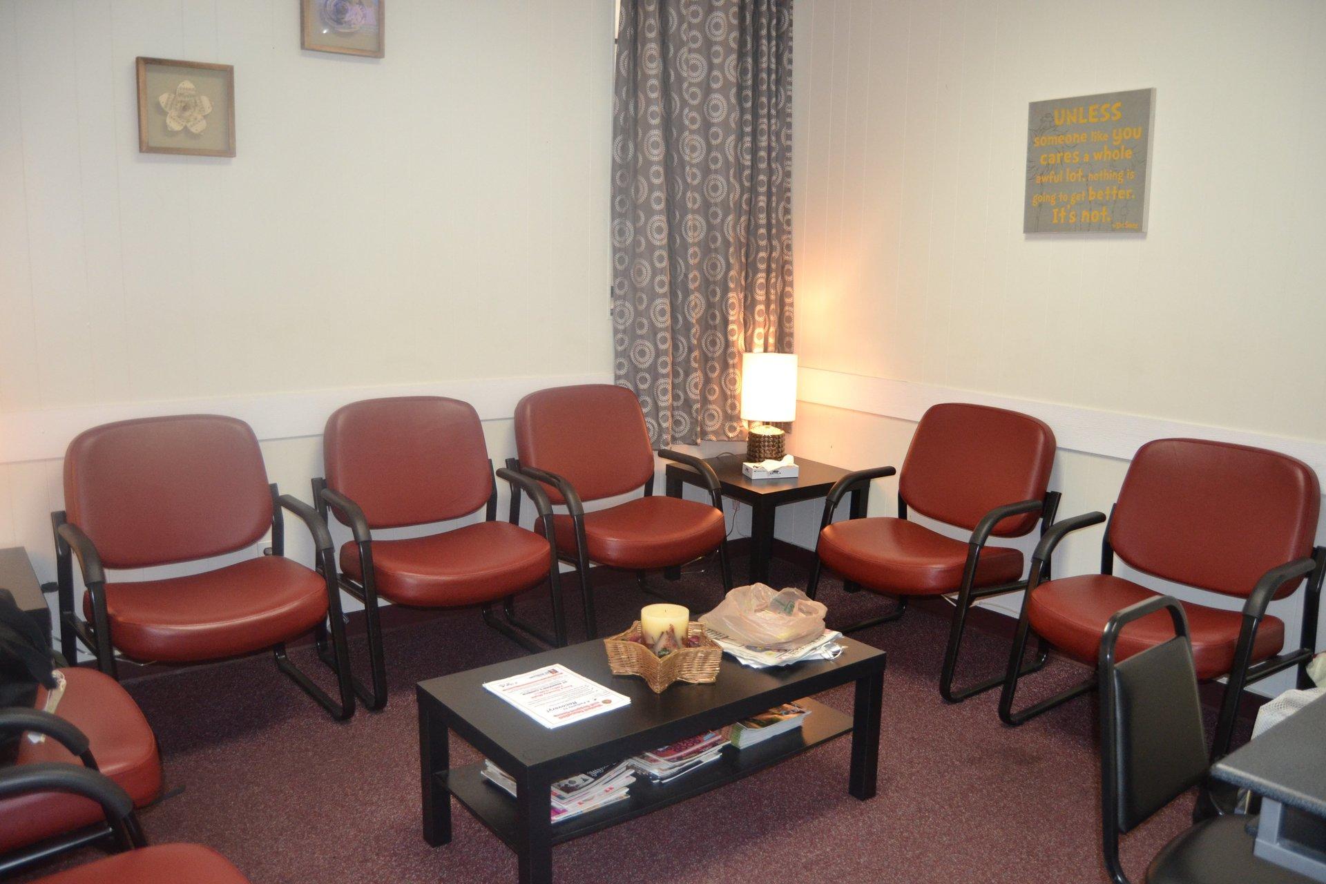 group meeting room in Seafield drug & alcohol rehab facility - Mineola NY