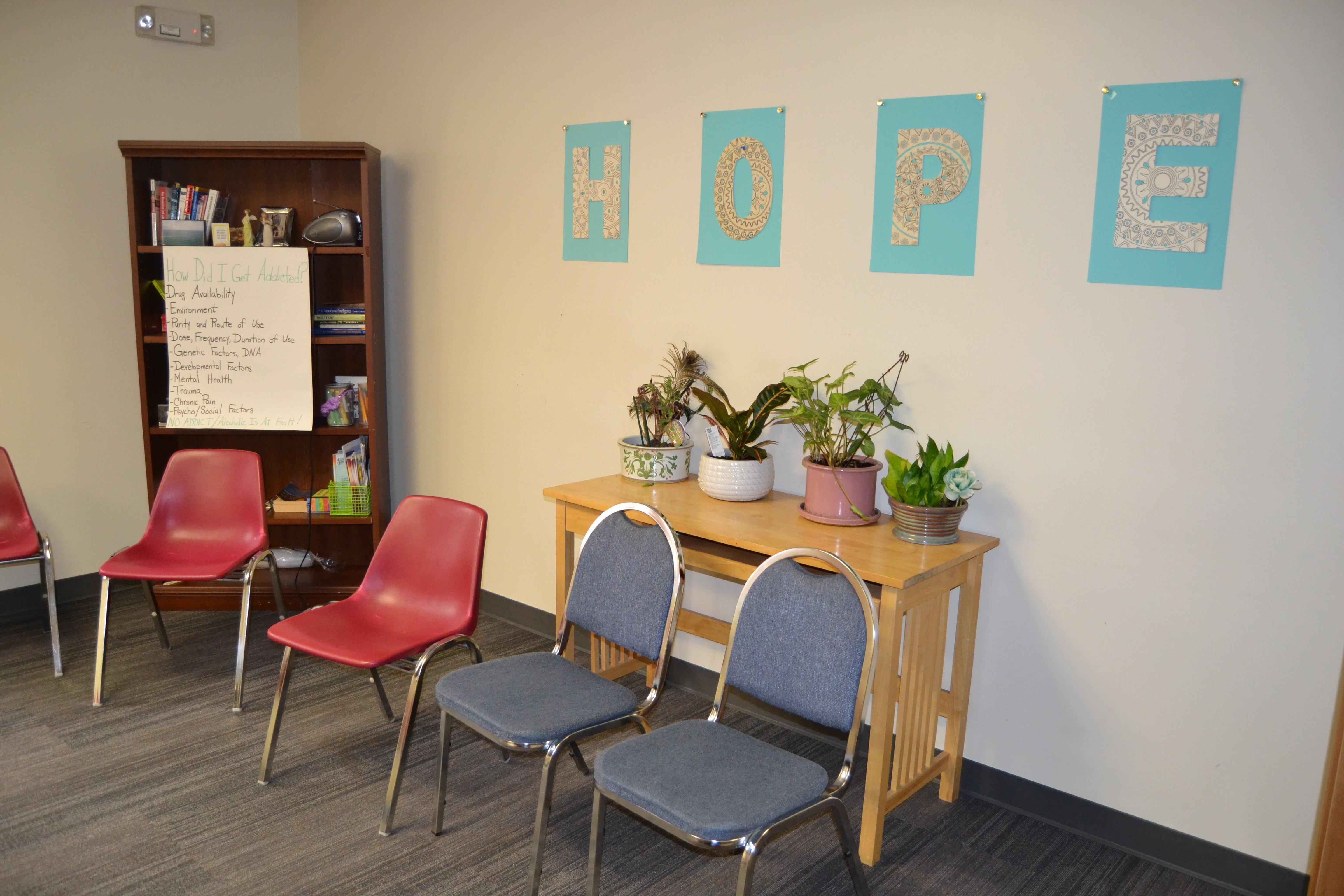 group meeting room in Seafield rehab facility - Amityville NY
