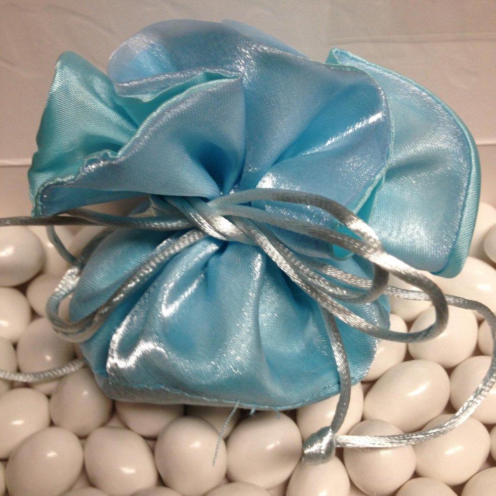 sacchetto b azzurro bomboniera