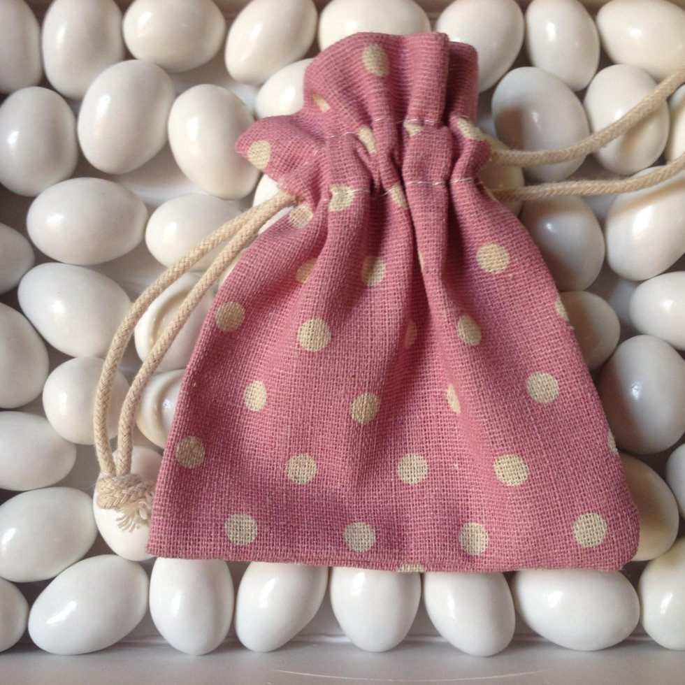sacchetto rosa bomboniera