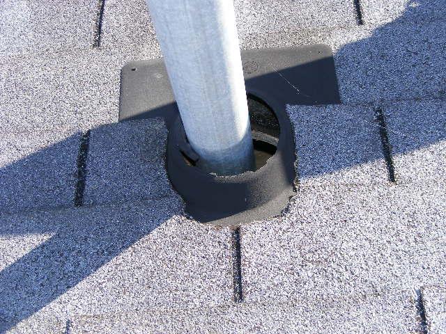 Exposed Roofline around Pipe Vent