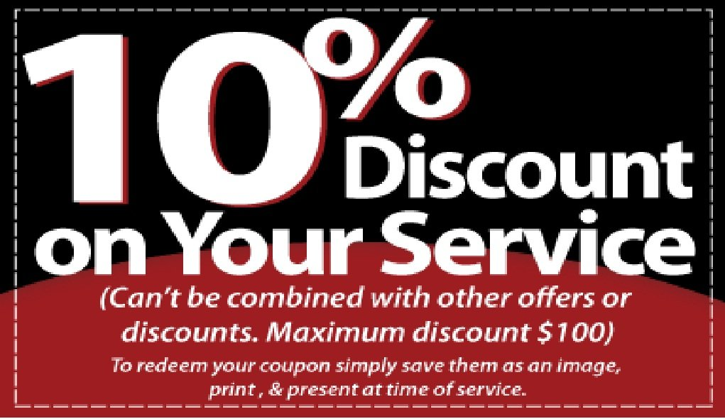 10% discount on your service coupon