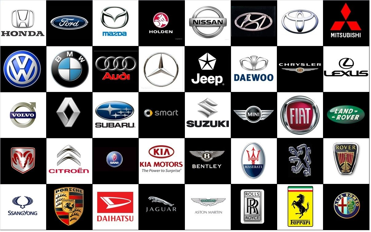 Car brands and logos