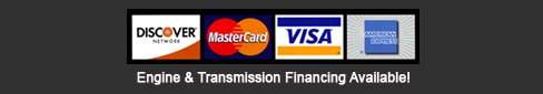 We support Discover, Master Card, Visa, and Amex
