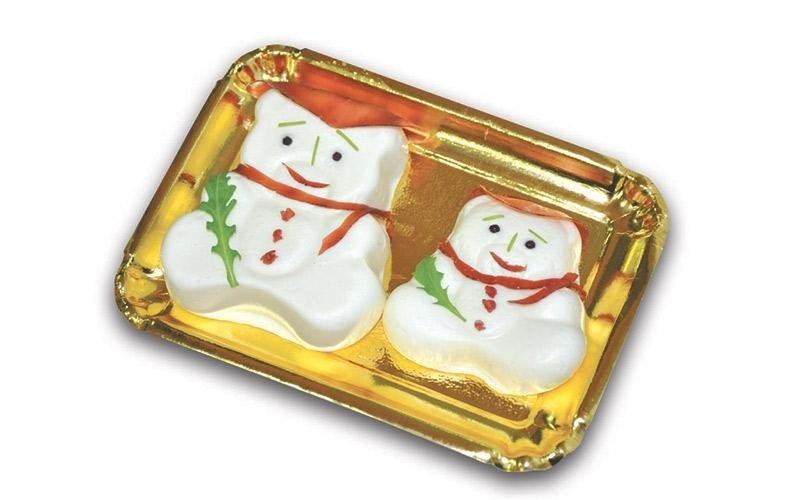 Pasta di scamorza - pupazzo di neve