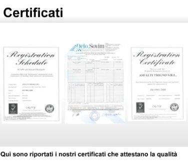 certificati di qualità