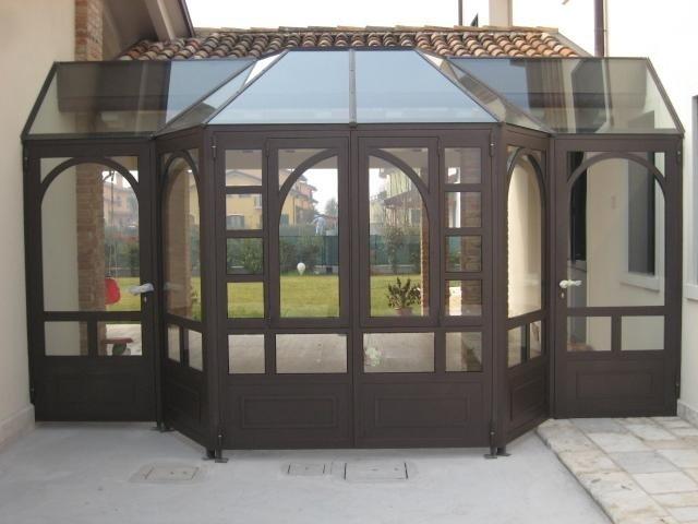passerella esterna a vetri