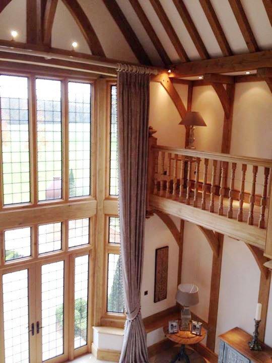 Luxurious ceiling length curtains