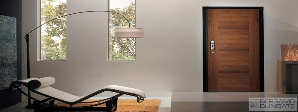 Porta blindata elettronica vista interna
