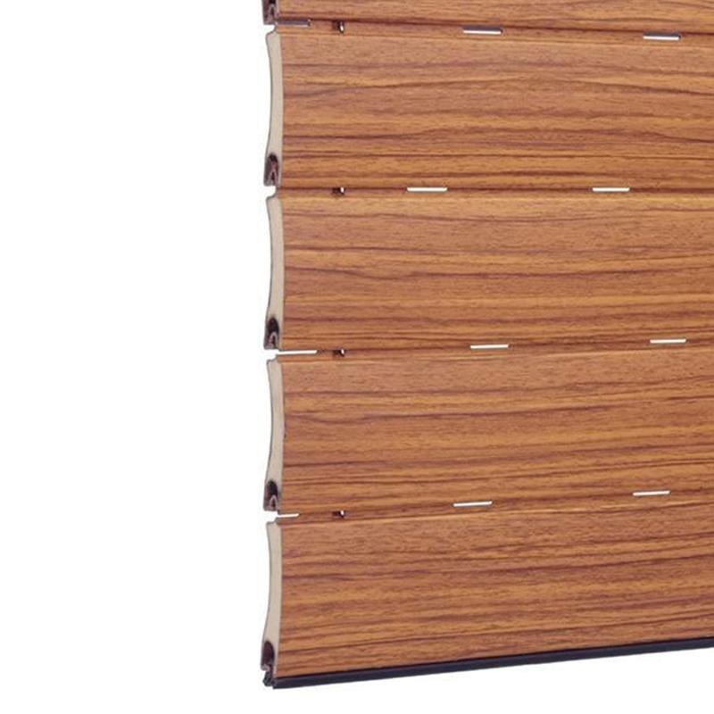 Tapparella in acciaio finto legno