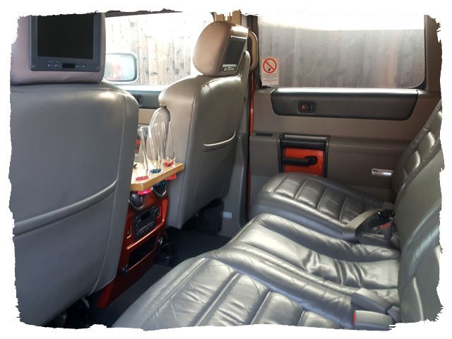 interior of the Baby Hummer Limo